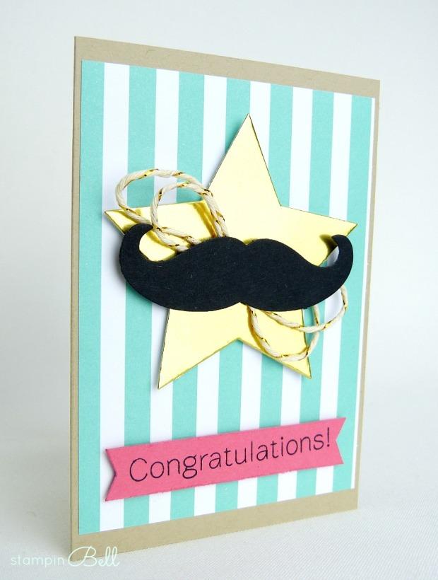Glückwunschkarte Schnurrbart