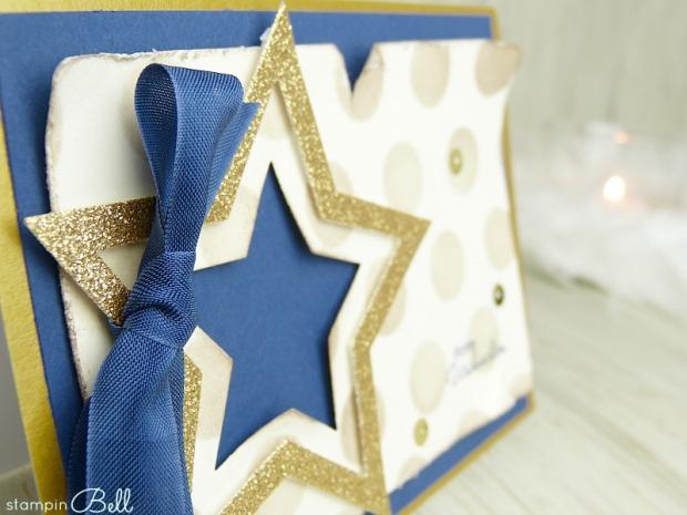 Weihnachtskarte Stern 2