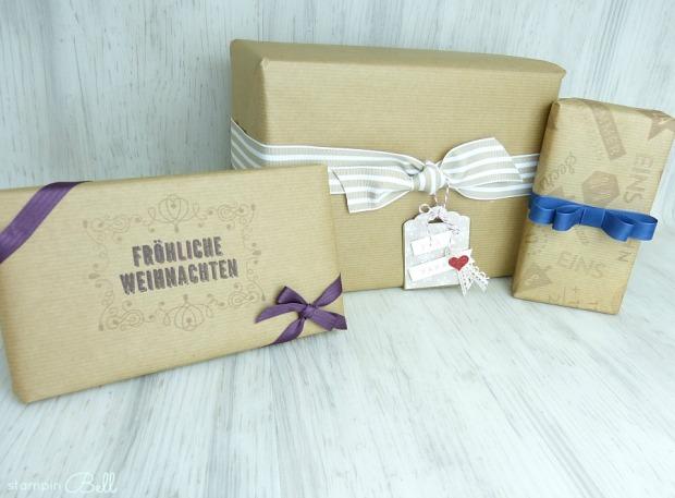 Geschenke verpacken Stampin Up