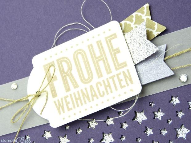 Weihnachtskarte Aubergine Savanne Details