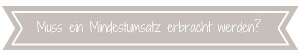 Mindestumsatz _Demo werden