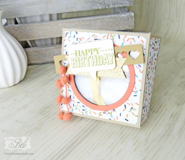 Geburtstagskuchenbausatz Stampin Up Big Day Geschenkidee Milka Tender