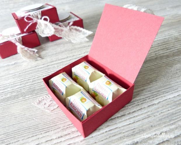 Goodie Verpackung Küsschen Jade Glutrot