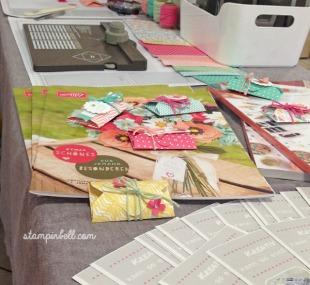 Markt Hobbykünstlermarkt Kunsthandwerkermarkt Stampin Up Workshop tisch