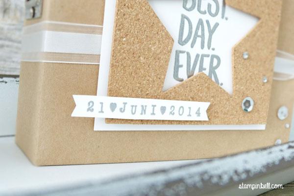 Projektset Deine Welt Hochzeitsalbum DIY Stampin Up! Alphabet Drehstempel Stampinbell
