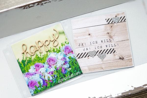 Projektset Deine Welt Hochzeitsalbum DIY Stampin Up! Drehstempel Washi Tape