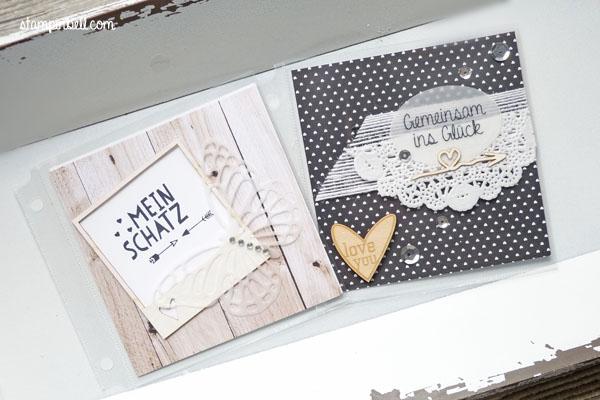 Projektset Deine Welt Hochzeitsalbum DIY Stampin Up! Wir beide Perfekter Tag Hochzeit Album