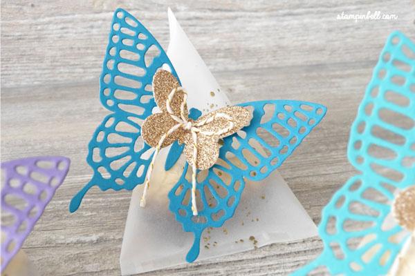 Sour Cream Box Verpackung Schmetterlinge Aubergine Petrol Bermudablau