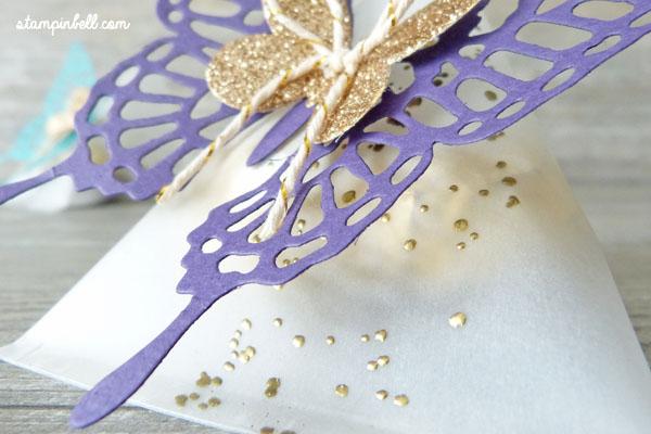 Sour Cream Box Verpackung Schmetterlinge Embosst Gold