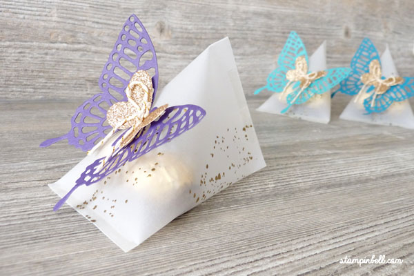 Sour Cream Box Verpackung Schmetterlinge Stampin´ Up! Schachtel Goodie
