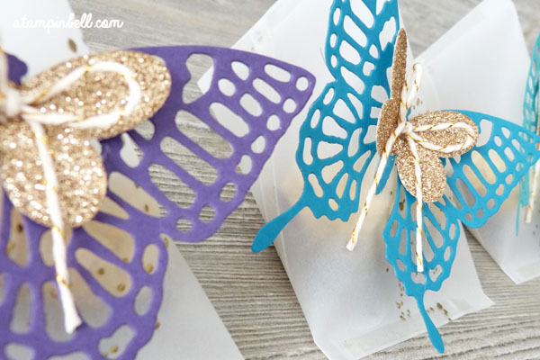 Sour Cream Box Verpackung Schmetterlinge