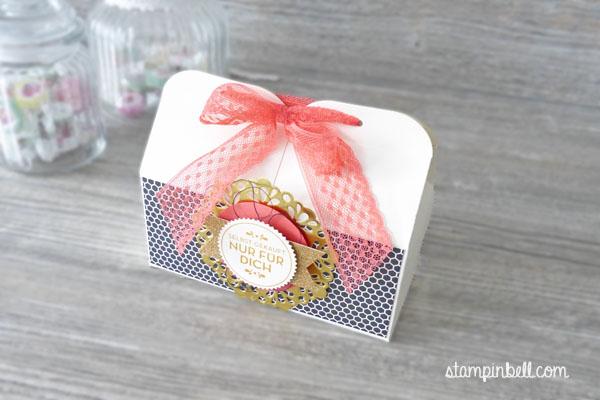 doppelte Leckereien Box Hausgemachte Leckerbissen Stampin´ Up! Stampinbell Leckereienbox Geschenkschachtel