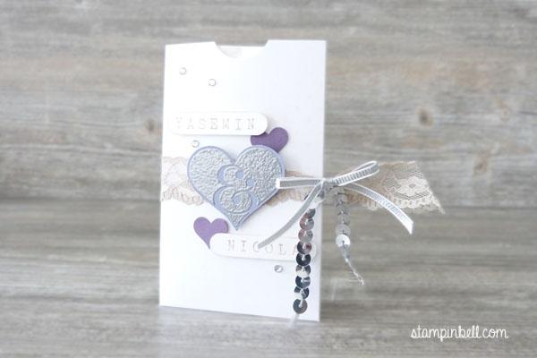 Freudentränen Herzklopfen Stampin Up! Lila Pflaumenblau Hochzeit Hochzeitspapeterie