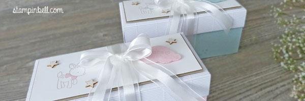 Geschenkschachtel Geschenk Verpackung Baby Zum Nachwuchs Mädchen Junge