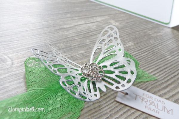 Glückwunschkarte zur Hochzeit Grasgrün Stampin´ Up! Schmetterling Perfekter Tag