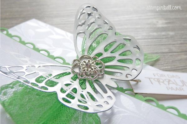Glückwunschkarte zur Hochzeit Grasgrün Stampin´ Up! Schmetterling