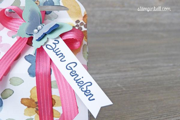 Leckereien-Box Stampin´ Up! Englischer Garten Schmetterling Leckereienbox Geschenkschachtel Schachtel zum Genießen ein kleiner Gruß