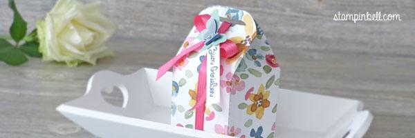 Leckereien-Box Stampin´ Up! Englischer Garten Schmetterling Leckereienbox Schachtel Ein kleiner Gruß