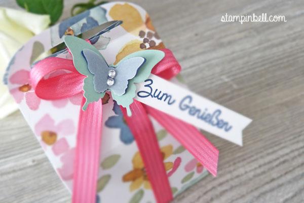 Leckereien-Box Stampin´ Up! Englischer Garten Schmetterling Stanze Geschenkschachtel Schachtel zum Verschenken