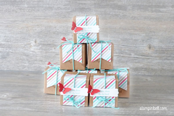Mini Geschenkschachteln Stampin Up Gastgeschenke Perfekte Pärchen Goodies auf die Schnelle