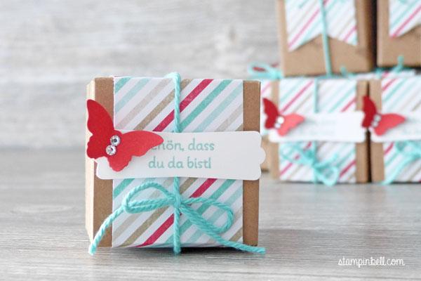 Mini Geschenkschachteln Stampin Up Gastgeschenke Perfekte Pärchen Goodies Mini Schmetterling