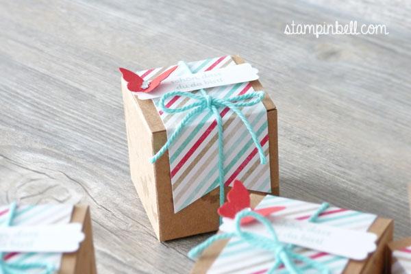 Mini Geschenkschachteln Stampin Up Gastgeschenke Perfekte Pärchen  Perpetual Birthday Calendar Goodies Mon Cherie Küsschen