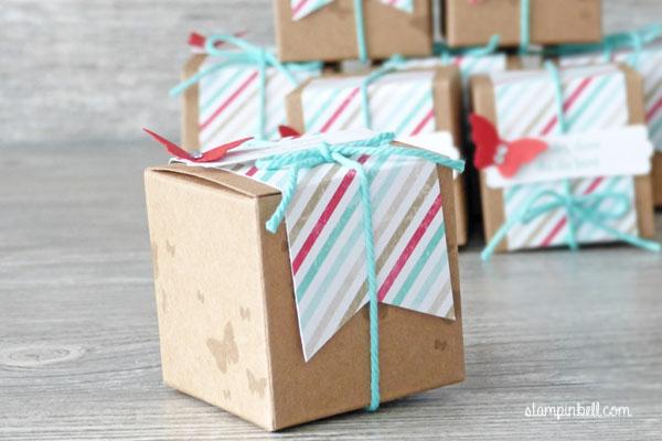 Mini Geschenkschachteln Stampin Up Gastgeschenke Perfekte Pärchen Perpetual Birthday Calender Mini Schmetterling