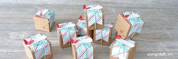 Mini Geschenkschachteln Stampin Up Gastgeschenke Perfekte Pärchen
