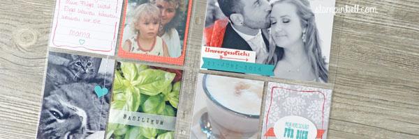 Project Life Album 6%22 x 8%22 Stampin´ Up! Memoriekeeping Unvergesslich Kartenkollektion Liebesgeschichte Bermudablau