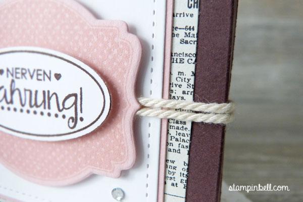 Schachtel Verpackung Yogurette Kinder Schokolade Ach, du meine Grüße! Erstausgabe Feder Kordel Nervennahrung