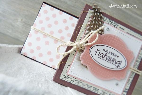 Schachtel Verpackung Yogurette Kinder Schokolade Ach, du meine Grüße! Etikettkunst  Lawn Fawn Large Stitched Square Stackables