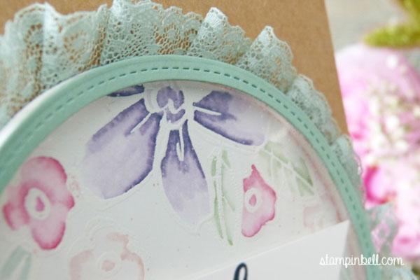 Schüttelkarte Shaker Card Glückwunschkarte Garden in Bloom Stampin Up! Stampinbell Grußelemente Geburtstagskarte Stampin Write Marker Aquarell