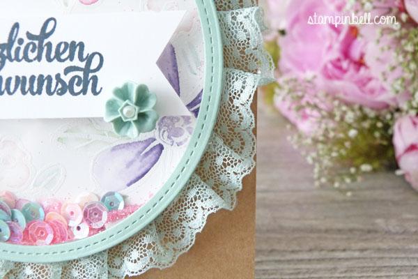 Schüttelkarte Shaker Card Glückwunschkarte Garden in Bloom Stampin Up! Stampinbell Stampin Write Marker