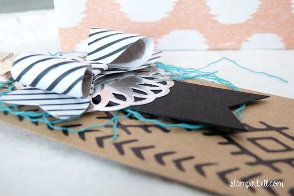 Stanz- und Falzbrett für Geschenktüten Punchboard Bohemian Borders Geschenkverpackung Verpackung