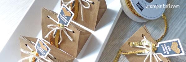 Stanz- und Falzbrett für Geschenktüten Stampin Up! Hintergrundstempel It´s Wild Geschenkschachtel Gut beschildert Aus meinem Garten