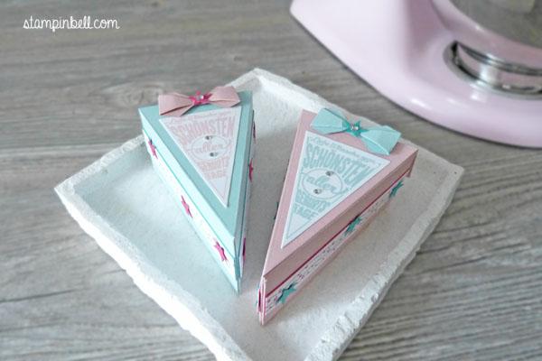 Tortenstück Stampin´ Up! Süße Stückchen Stampinbell Bermudablau Candy Pastellfarben Kirschblüte Kuchenstück zum Geburtstag Geburtstagswünsche