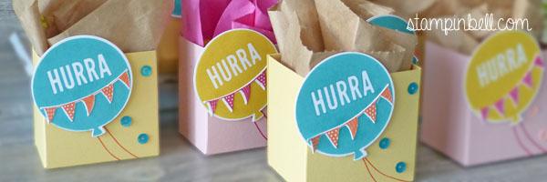 Geschenktüten für Kindergeburtstag Gastgeschenke Kinder Stampin´ Up! Stampinbell Auftragsarbeit