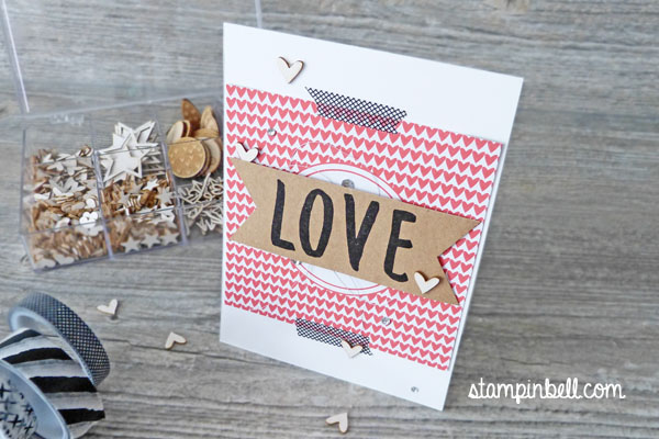 Karte Momente wie diese Layered Letters Alphabet Stampin´ Up! Stampinbell Project Life