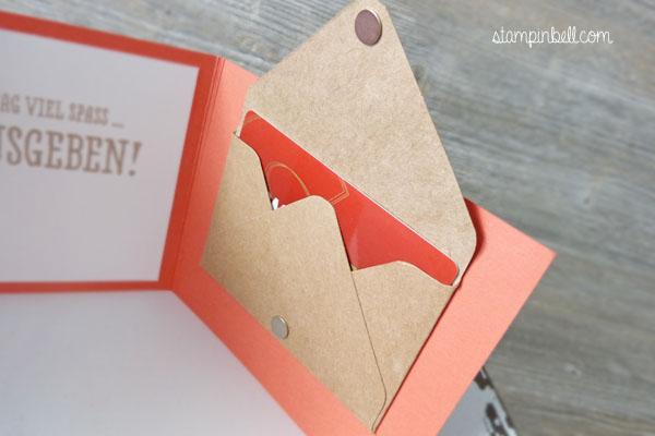 Klappkarte Gutscheine verschenken Geldgeschenke DIY Stampin´ Up! Etikettkunst Geburtstagskarte Geschenk deiner Wahl