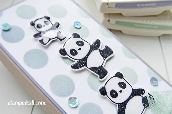 Milka Schokoladentafel Verpackung Stampin´ Up! Mama Elephant Pandamonium