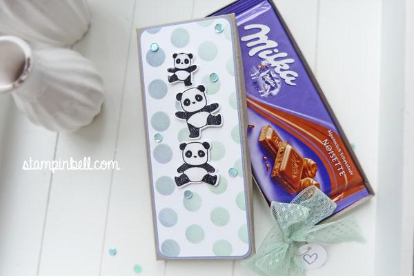 Milka Schokoladentafel Verpackung Stampin´ Up! Punkte Schablone