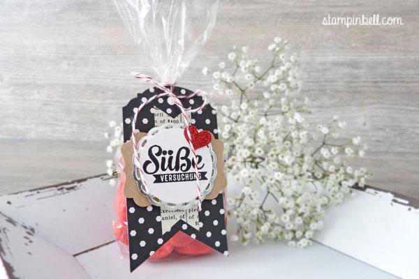 Süßigkeitentüte Süße Stückchen Nervennahrung Stampin Up! Stampinbell