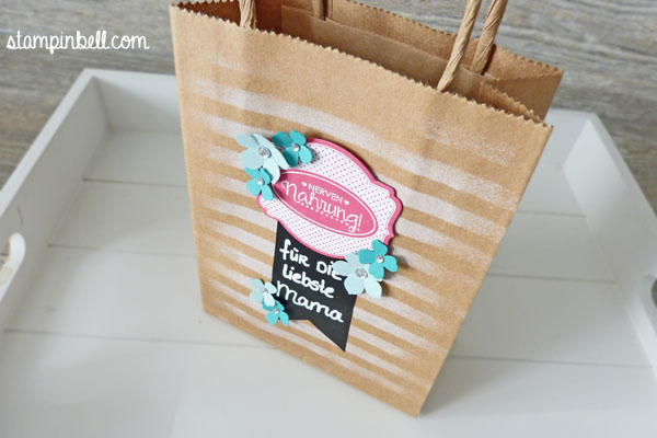 Geschenke verpacken Stampin´ Up! Folia Washi Tape Chalk Board
