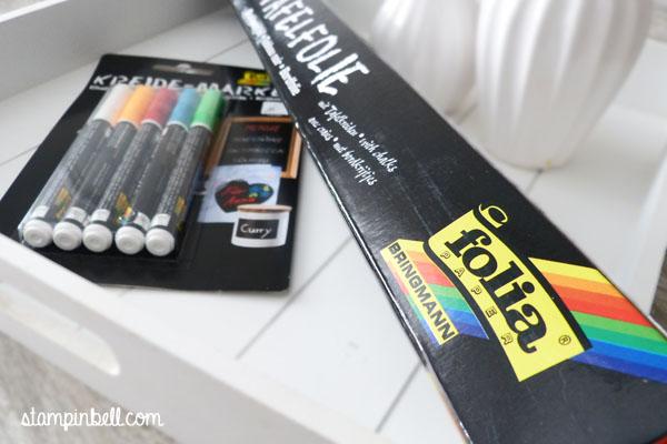 Geschenke verpacken Stampin´ Up! Folia Washi Tape Tafelfolie Kreidemarker Chalkboard