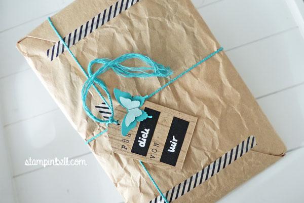 Geschenke verpacken Stampin´ Up! Folia Washi Tape Tafelfolie