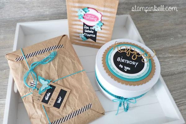 Geschenke verpacken Stampin´ Up! Folia Washi Tape
