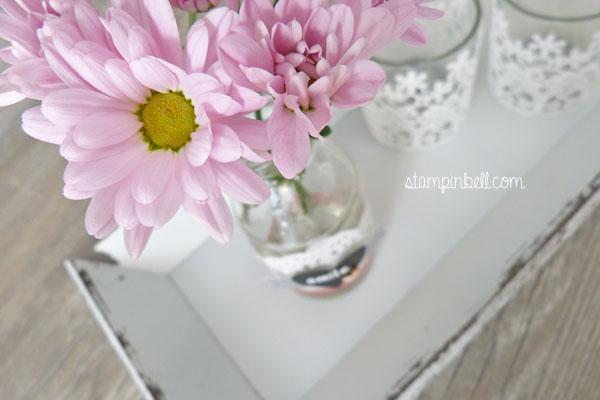 Homedeko Folia Stampin´ Up! Vase verzieren Deko für Zuhause