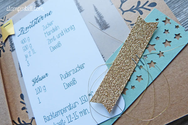 Mini Album Weihnachten Rezepteheft Rezeptesammlung Rezepte Stampin´ Up! O Tannenbaum Konfettistanze Winterliche Weihnachtsgrüße