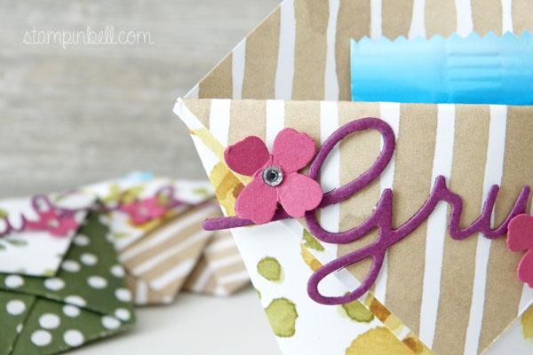 Origami Tasche Stampin´ Up! Thinlits Weihnachtliche Worte Gruß Goodies