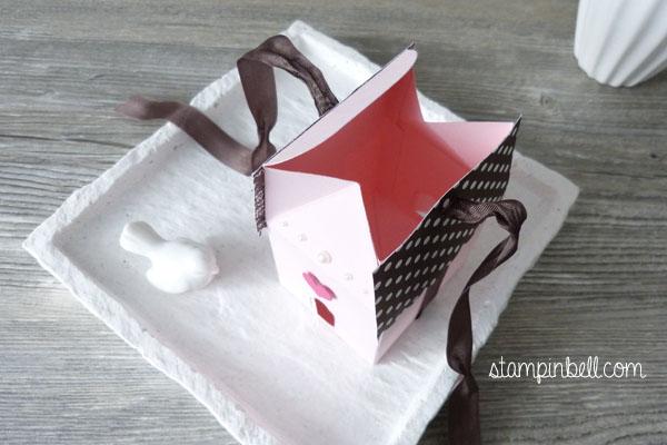Leckereien-Box Häusschen Stampin´ Up! Elegante Ecken Vogelhäusschen